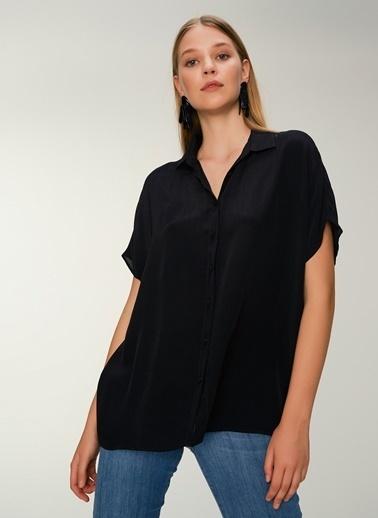 NGSTYLE Oversize Gömlek Siyah